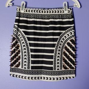 Dresses & Skirts - LF Angel Biba black/white geotribal spike skirt